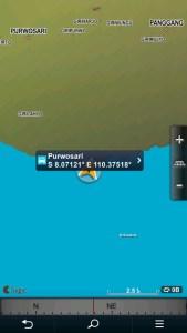 koordinat letak laut bekah gunungkidul