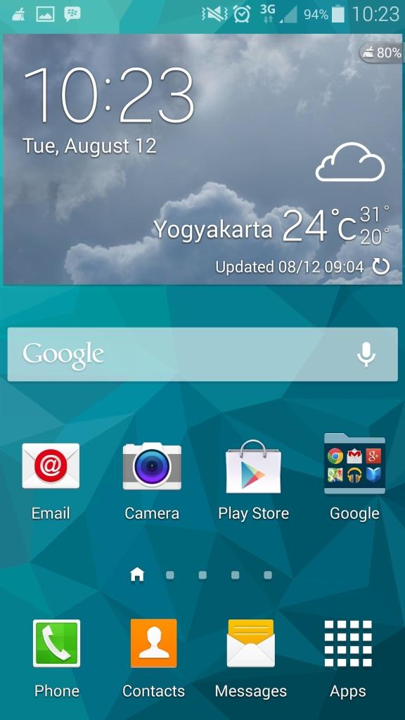 Screenshot home samsung galaxy s5