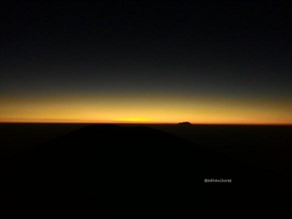 kamera Asus Zenfone 5 saat sunrise dengan focus spot