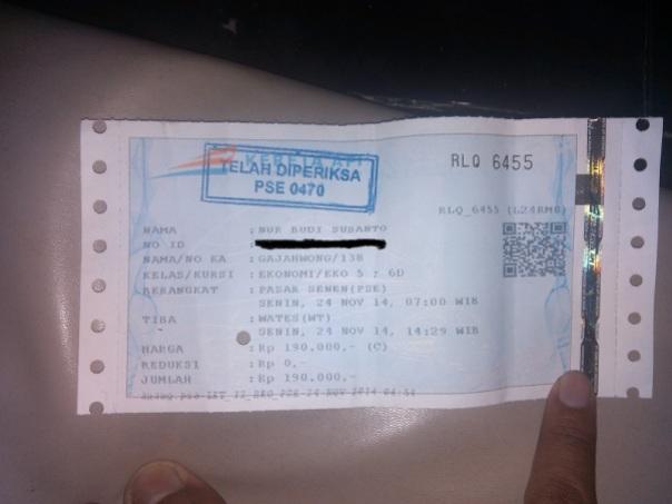 tiket kereta gajahwong nbsusanto