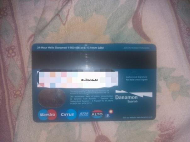 kartu ATM debit dan jaringan bank danamon syariah