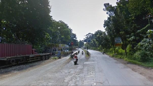 percabangan jalan baru alas roban dan jalan lama